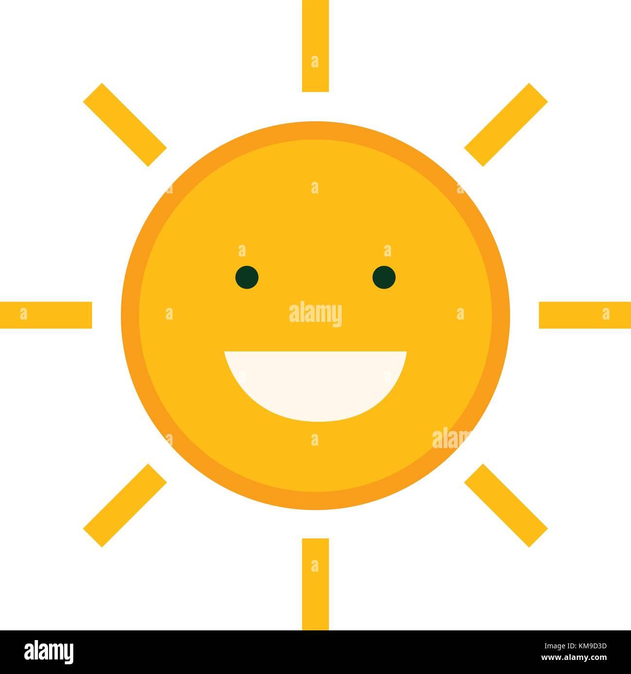 Sun Emoji Icon Vector Vectors Stockfotos & Sun Emoji Icon