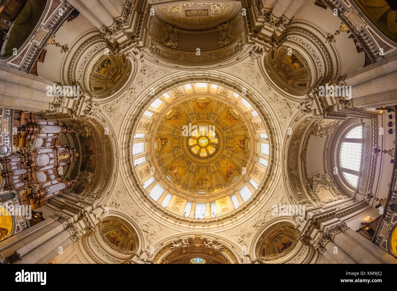 Dome Interieur, Kuppel, Berlin, Deutschland Stockbild