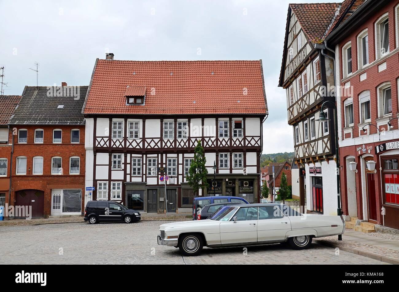 Ein Quadrat in Helmstedt (Niedersachsen, Deutschland) Stockbild