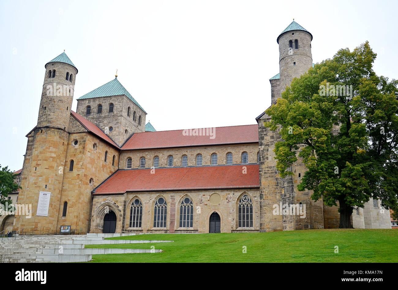 Hildesheim (Niedersachsen, Deutschland): Kirche St. Michaelis Stockbild