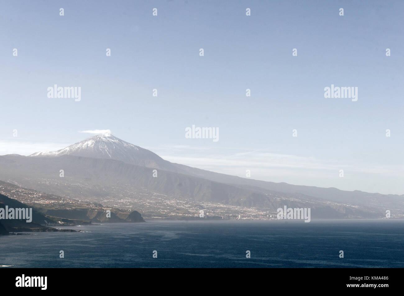 Mount Teide Teneriffa Kanarische Inseln Puerto de la Cruz Kanaren Stockbild