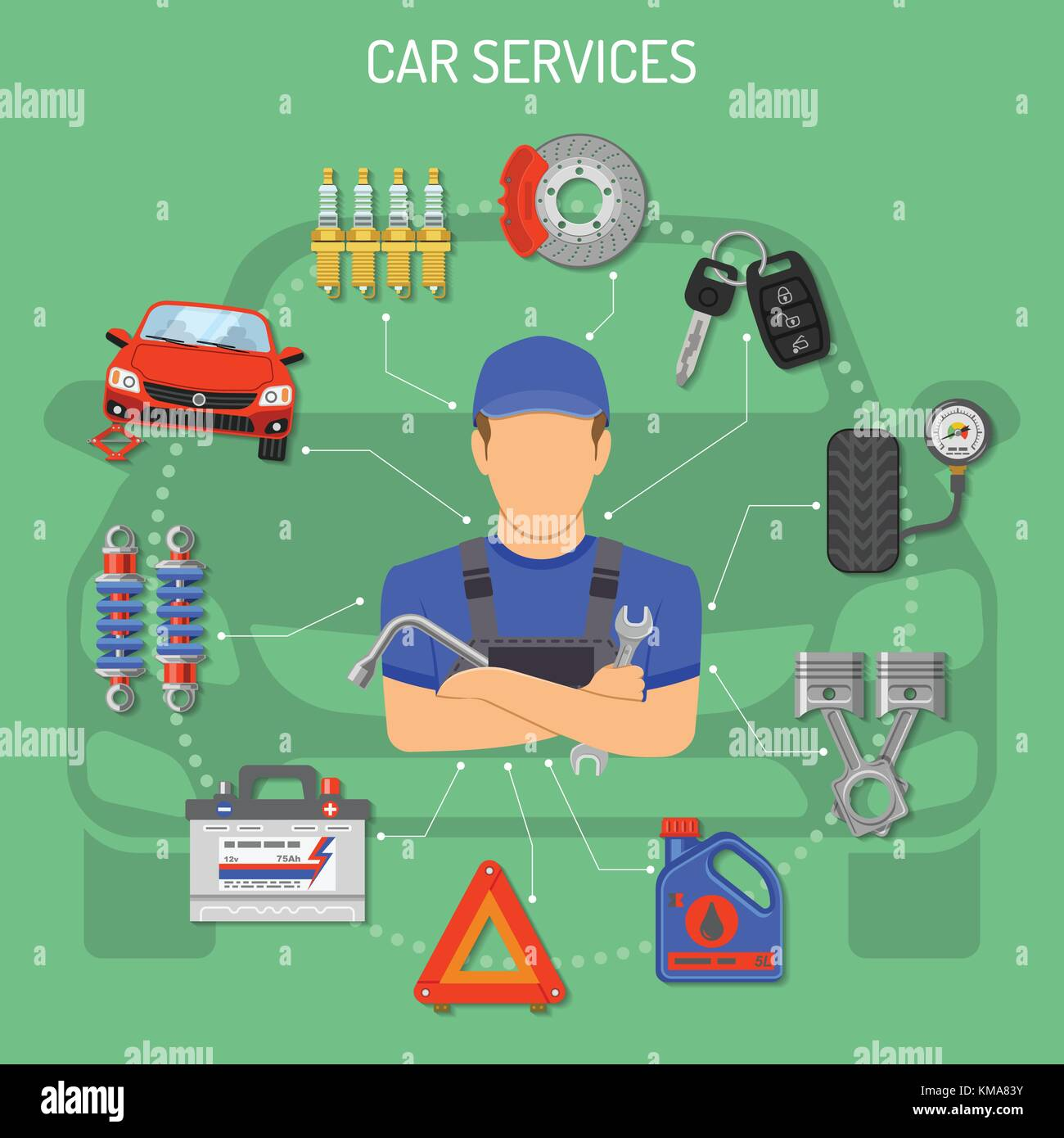 Auto Service Konzept Stockbild