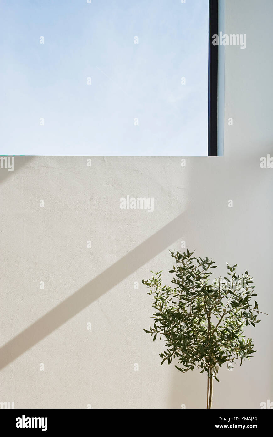Haus, Familie, Hannover, Neubau, Design, moderne, Fenster, Detail, innen Stockbild
