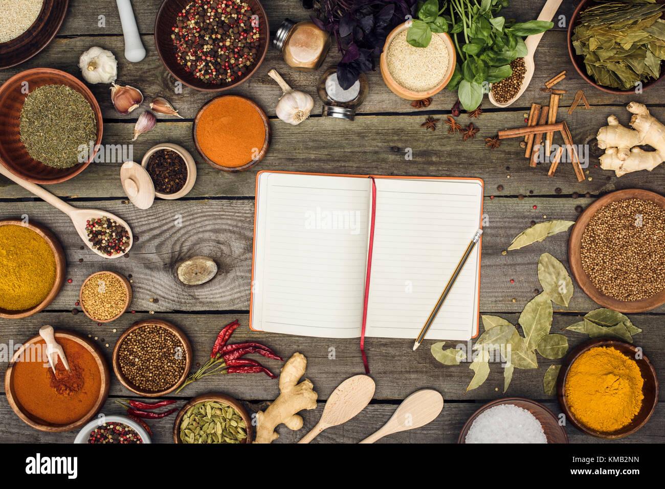 Notebook für Rezepte Stockbild
