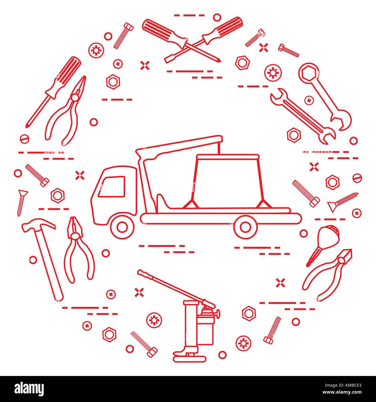 Reparieren autos abschleppwagen schraubenschl ssel for Schlussel im auto vergessen