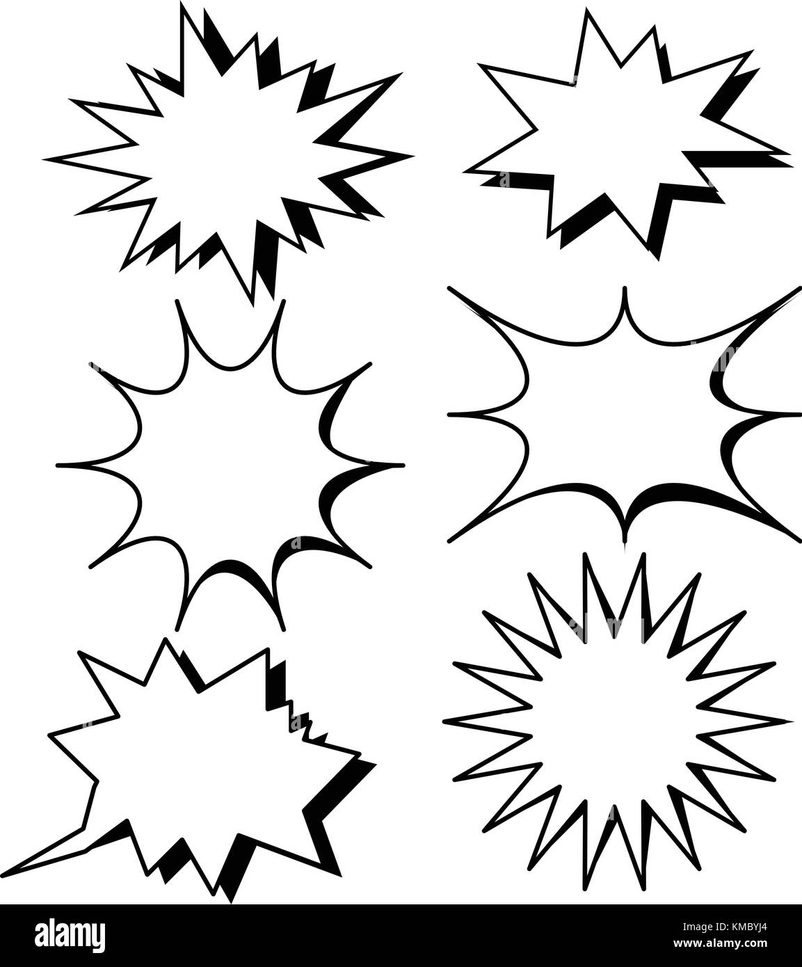 Leere Vorlage Comic Text Sprechblase star Vektor. Dialog leere Box ...