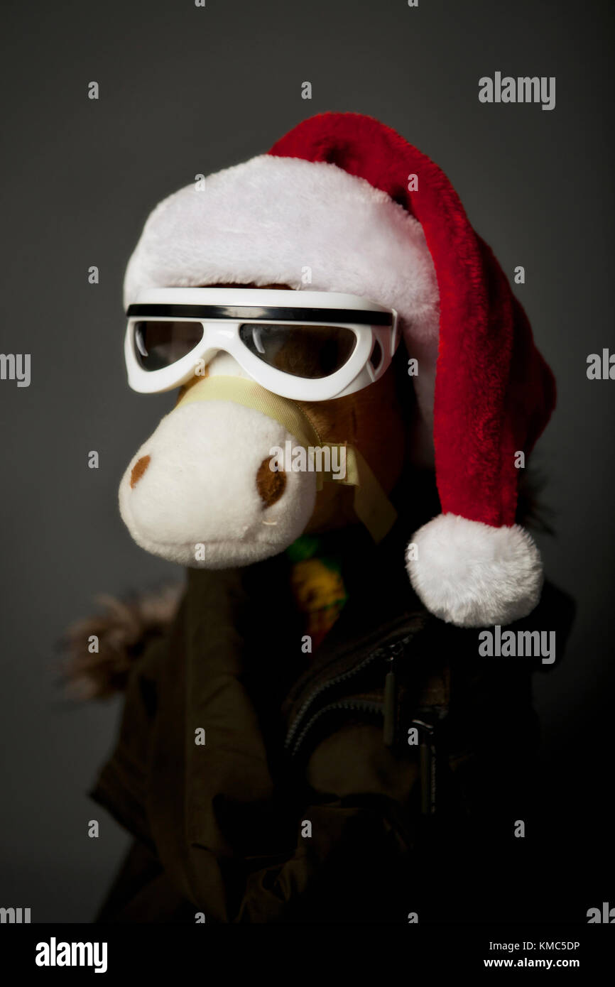 Lustige Weihnachten Bilder.Lustige Weihnachten Spielzeug Pferd Stockfoto Bild 167454162 Alamy