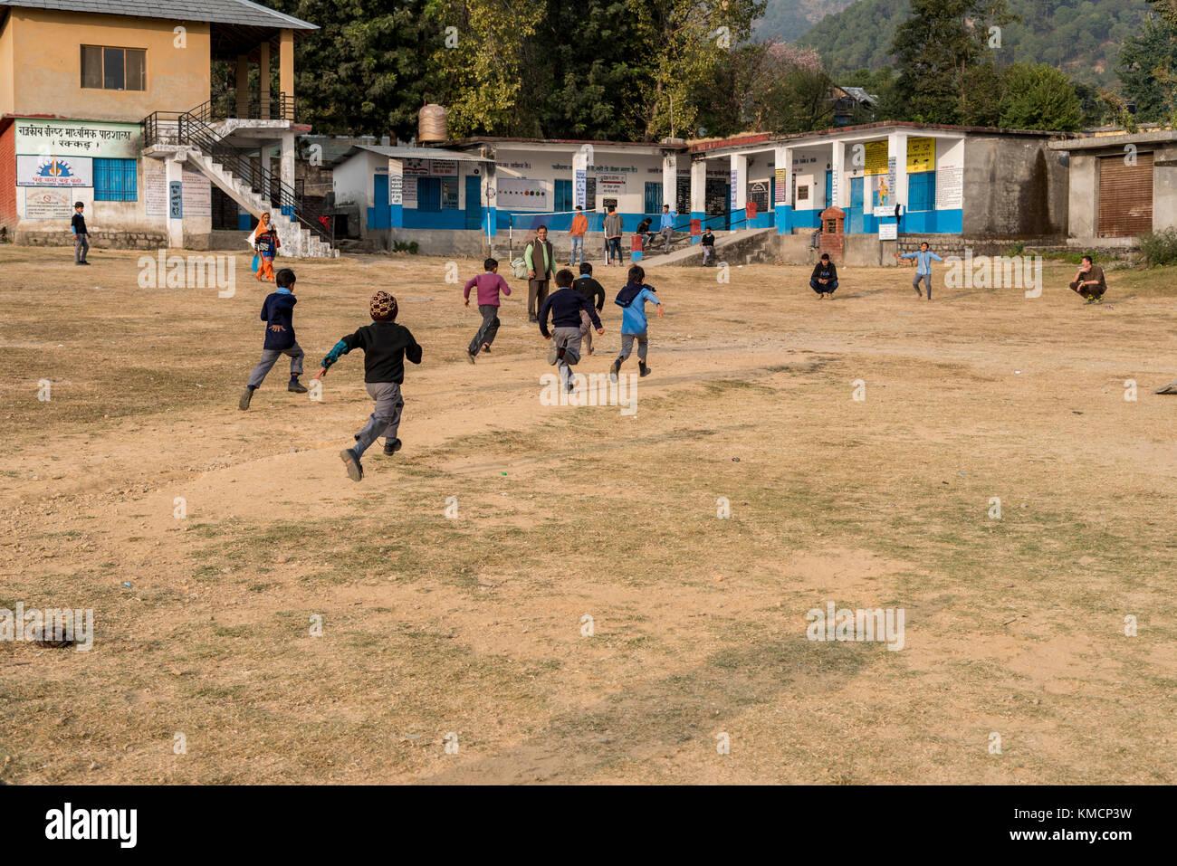 Junge Schule jungen Sport der Tag. Stockbild