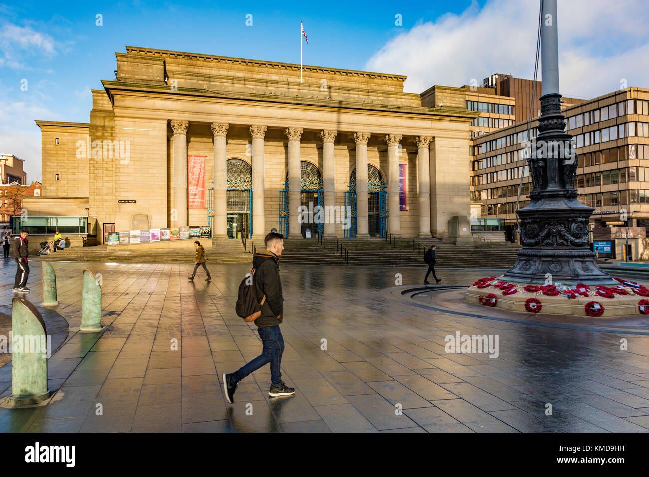 Sheffield City Hall, ein Veranstaltungsort im Herzen der Stadt, Sheffield, South Yorkshire, Großbritannien Stockbild