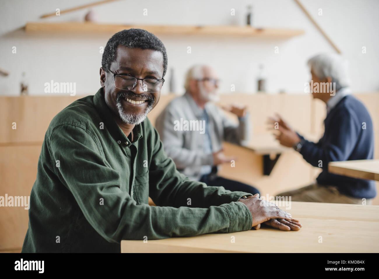 Senior afrikanische amerikanische Mann Stockbild