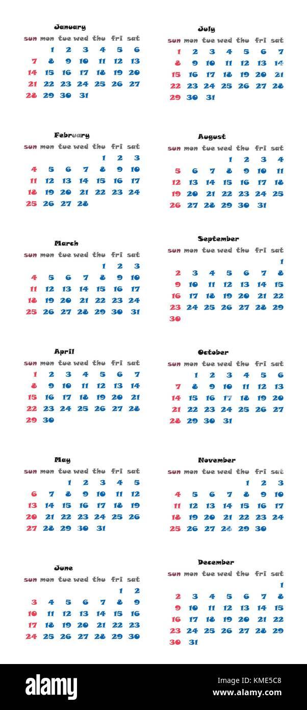 Annual Planner Vector Vectors Stockfotos & Annual Planner Vector ...