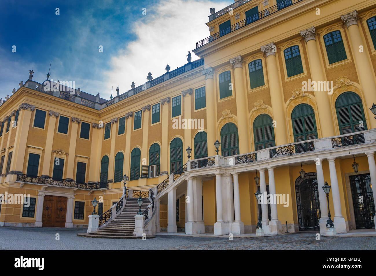 Das berühmte Schloss Schönbrunn, Wien, Österreich, Europa. Stockbild