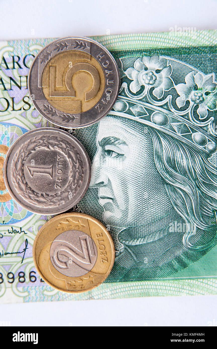 Die Polnische 100 Zloty Rechnung Mit Dem Polnischen König Wladyslaw