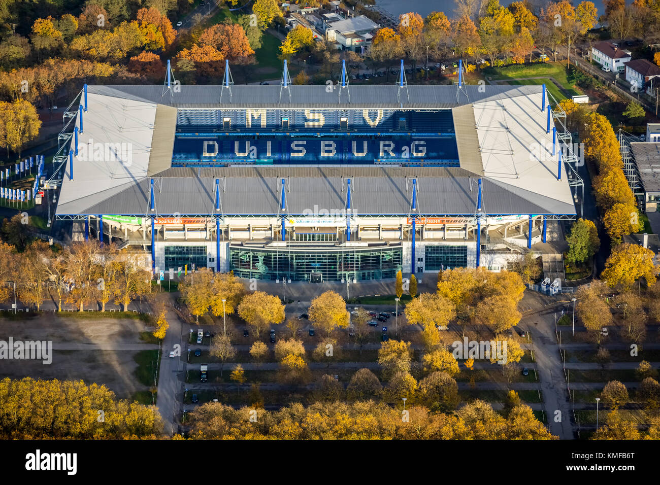 Schauinsland-Reisen-Arena, Sportpark Sportpark Wedau, Wanheim, Duisburg, Ruhrgebiet, Nordrhein-Westfalen, Deutschland Stockbild
