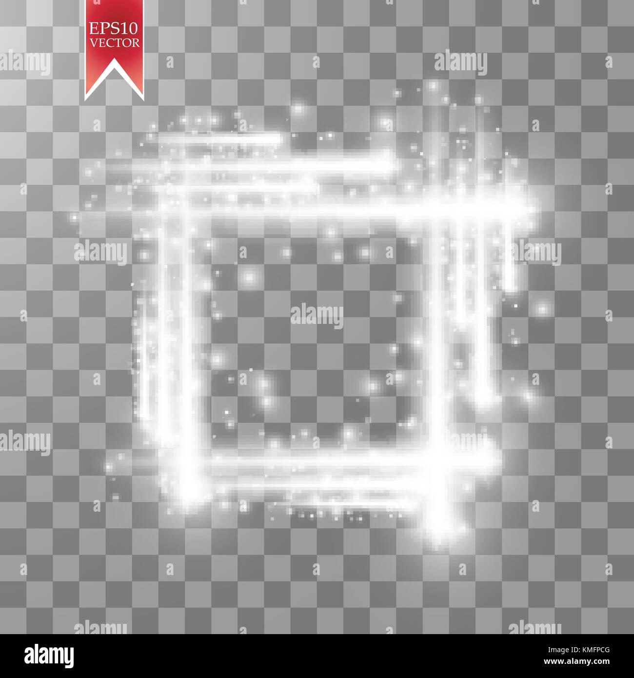 Abstrakte Luxus weiß Vektor Licht flare Light Effect Funken ...