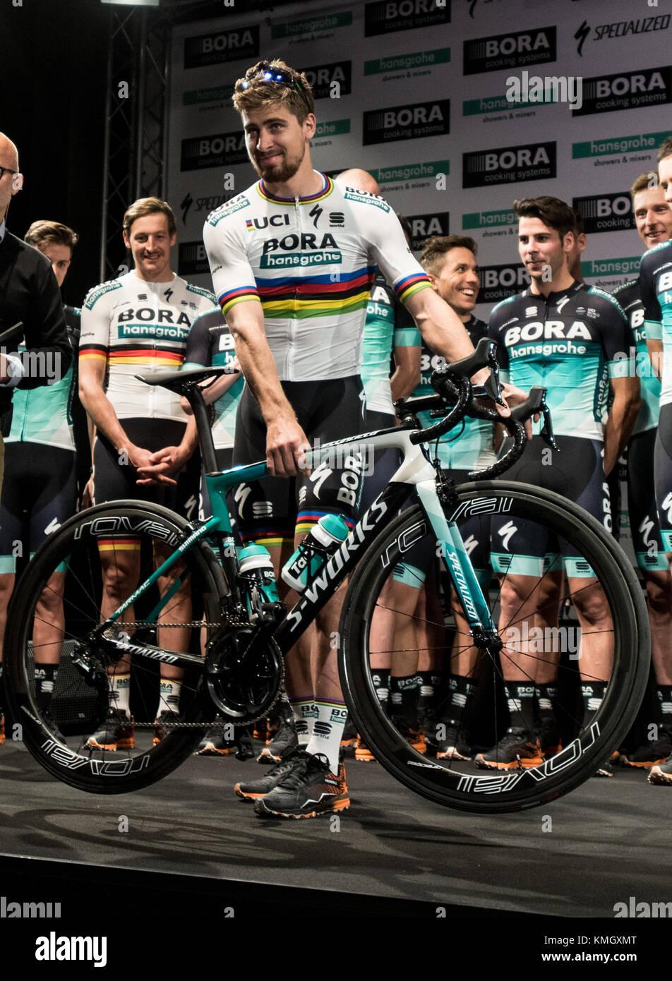 Peter Sagan der Bora - Hansgrohe Team stellt während der ...