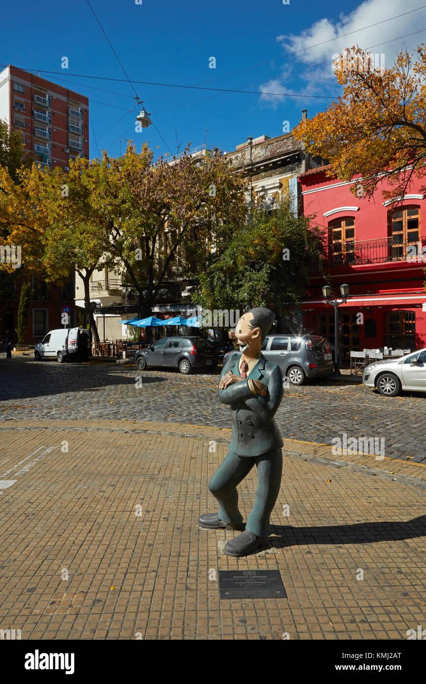 Isidoro canones Zeichentrickfigur, avenida Chile, San Telmo, Buenos Aires, Argentinien, Südamerika Stockbild