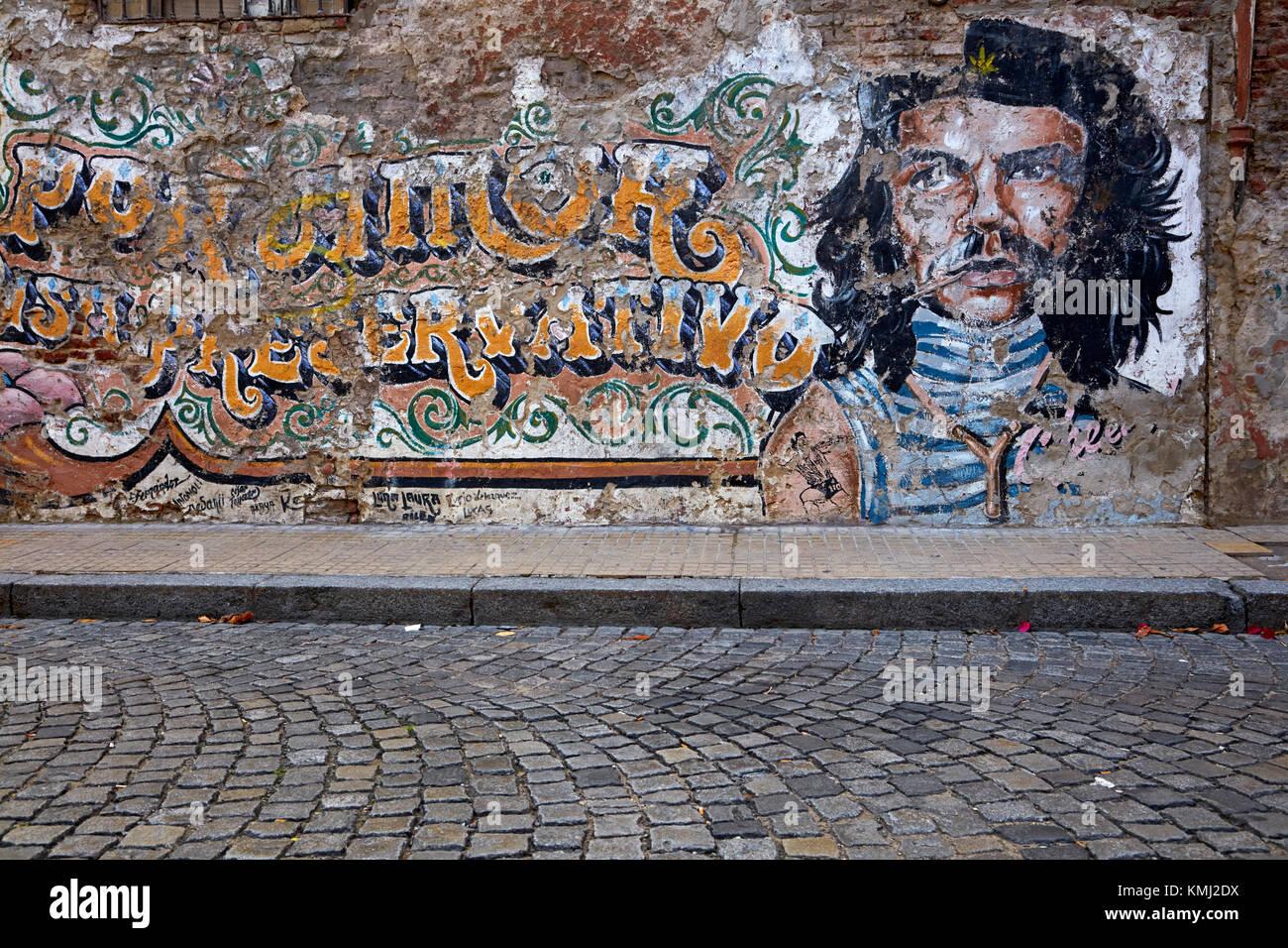 Che Guevara Wandbild, San Telmo, Buenos Aires, Argentinien, Südamerika Stockbild