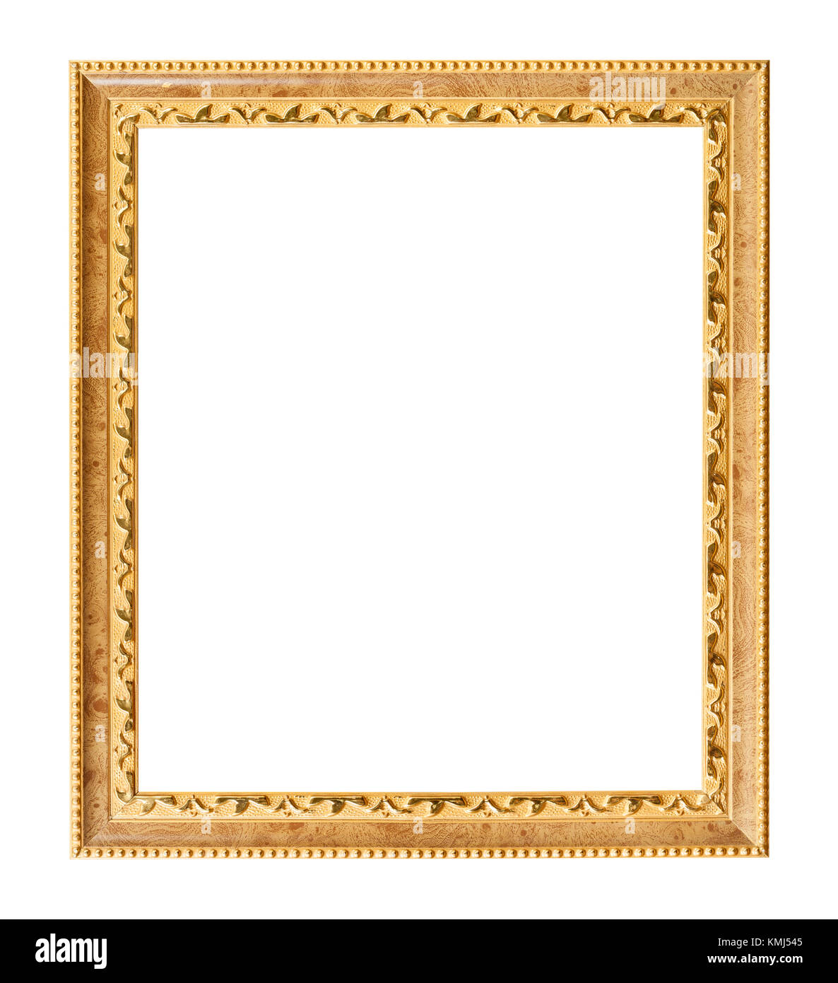 Vertikale geschnitzte goldene Holz Bilderrahmen mit ausgeschnittenen ...