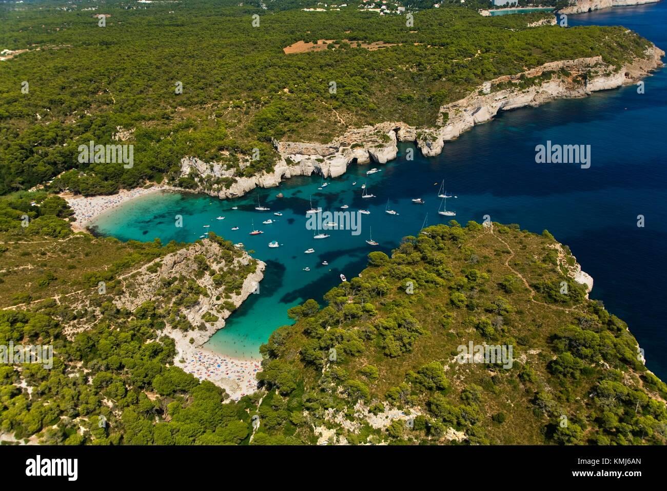 Cala Macarella y Macarelleta. Menorca. Menorca. Balearen. Islas Baleares. Spanien. Stockbild