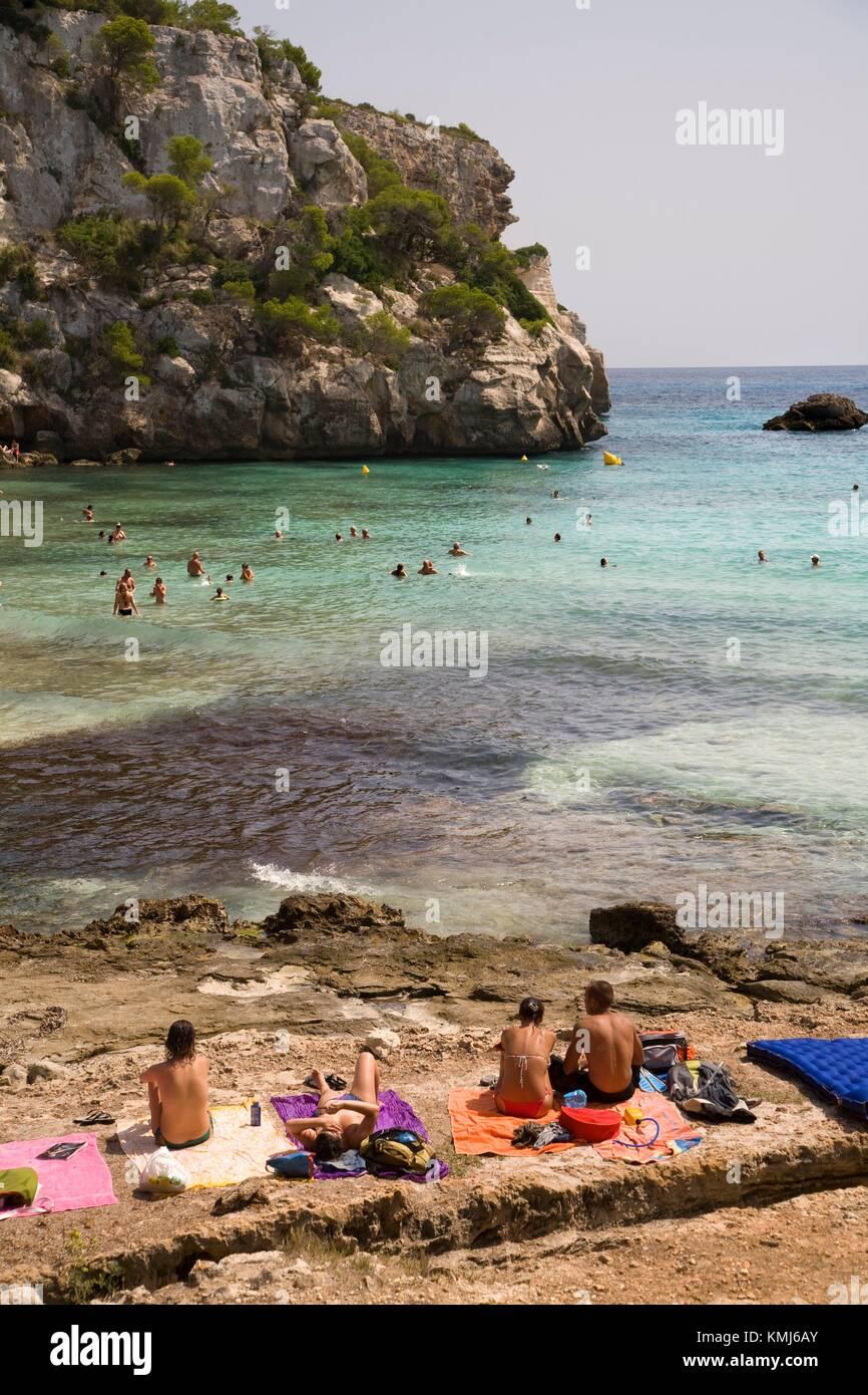 Cala Macarella. Menorca. Menorca. Balearen. Islas Baleares. Spanien. Stockbild