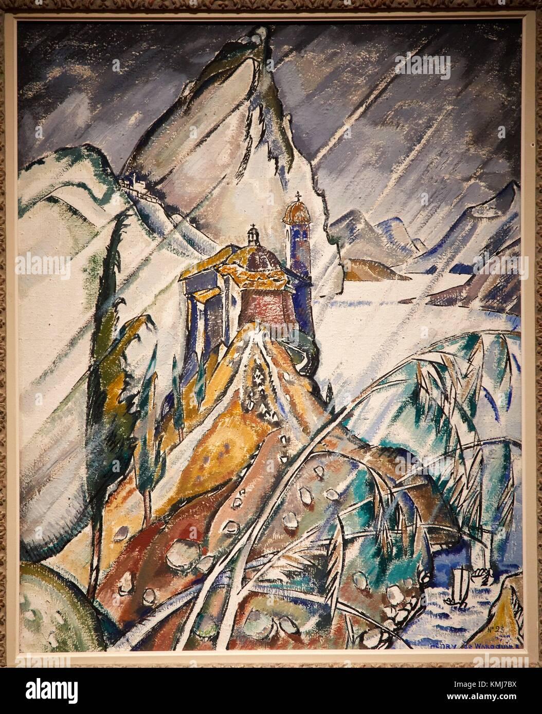 La Pluie, paysage de l'Esperance Deutschlands, 1912, Henri de Waroquier, Musée d'Art Moderne, Troyes, Stockbild