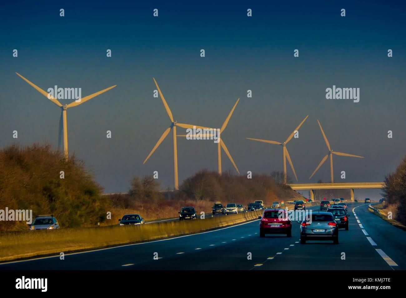 Frankreich Centre Loiret, auf der Autobahn A10. Stockbild