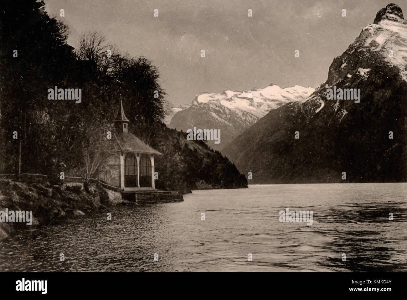 Tellsplatte, Schweiz 1880 s Stockfoto