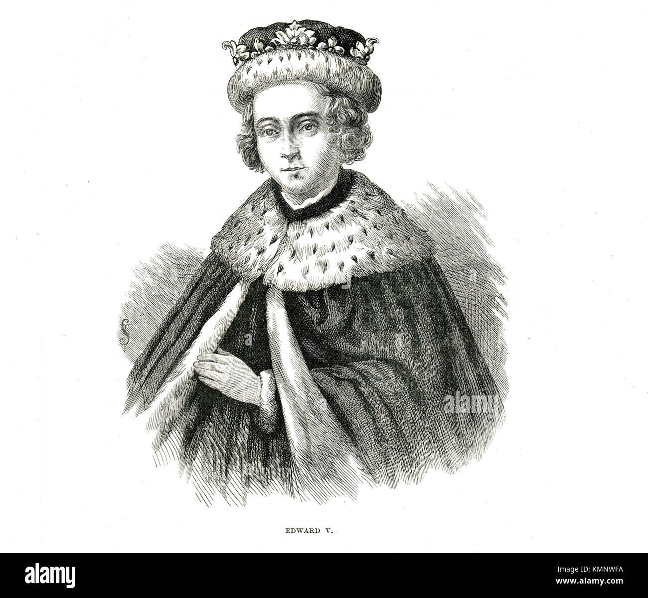 König Edward V. von England, 1470-1483, regierte April - Juni 1483 (UNGEKRÖNTE) Stockbild