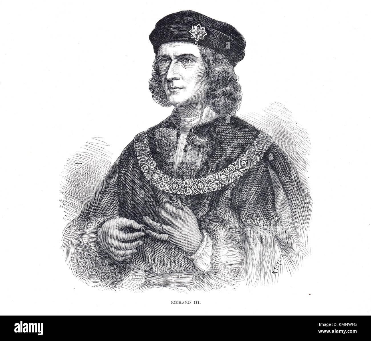 König Richard III. von England, 1452-1485, regierte 1483-1485 Stockbild