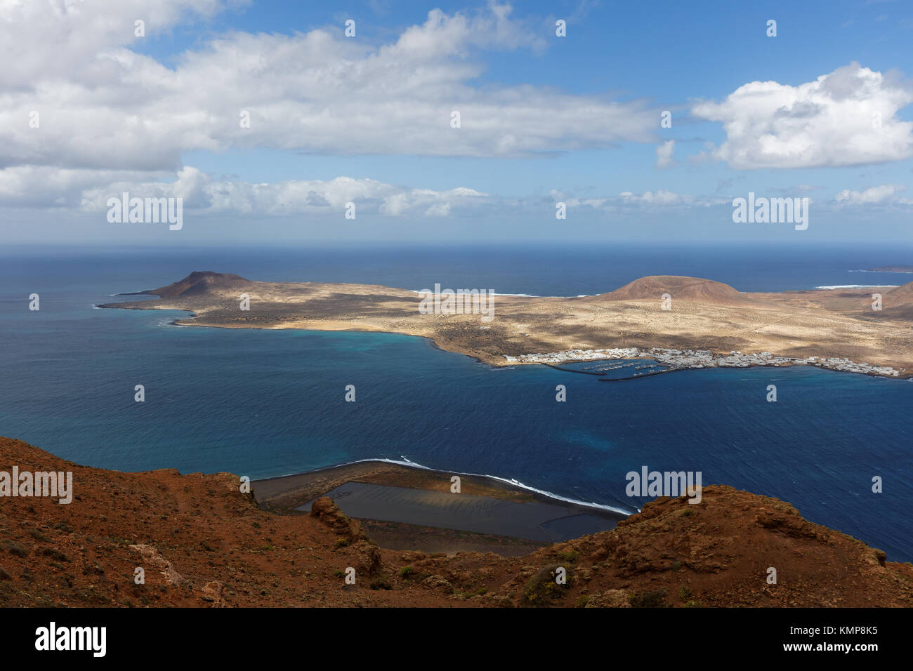Blick aus Lanzarote Stockbild