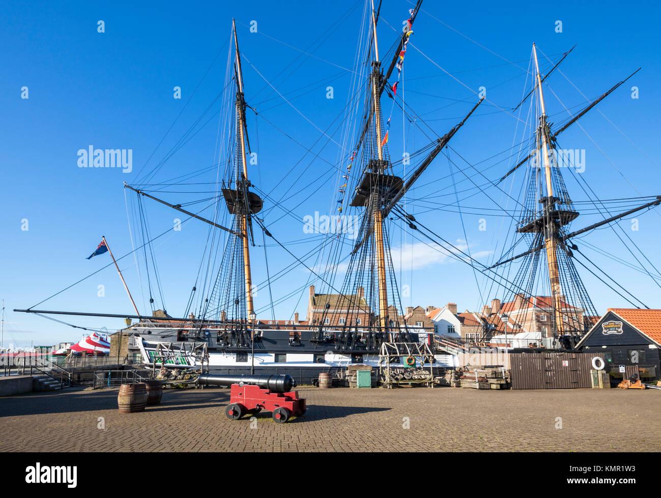England England hartlepool Hartlepool Marina H M S Trincomalee einen Napoleonischen Krieg marine Fregatte restauriert Stockbild