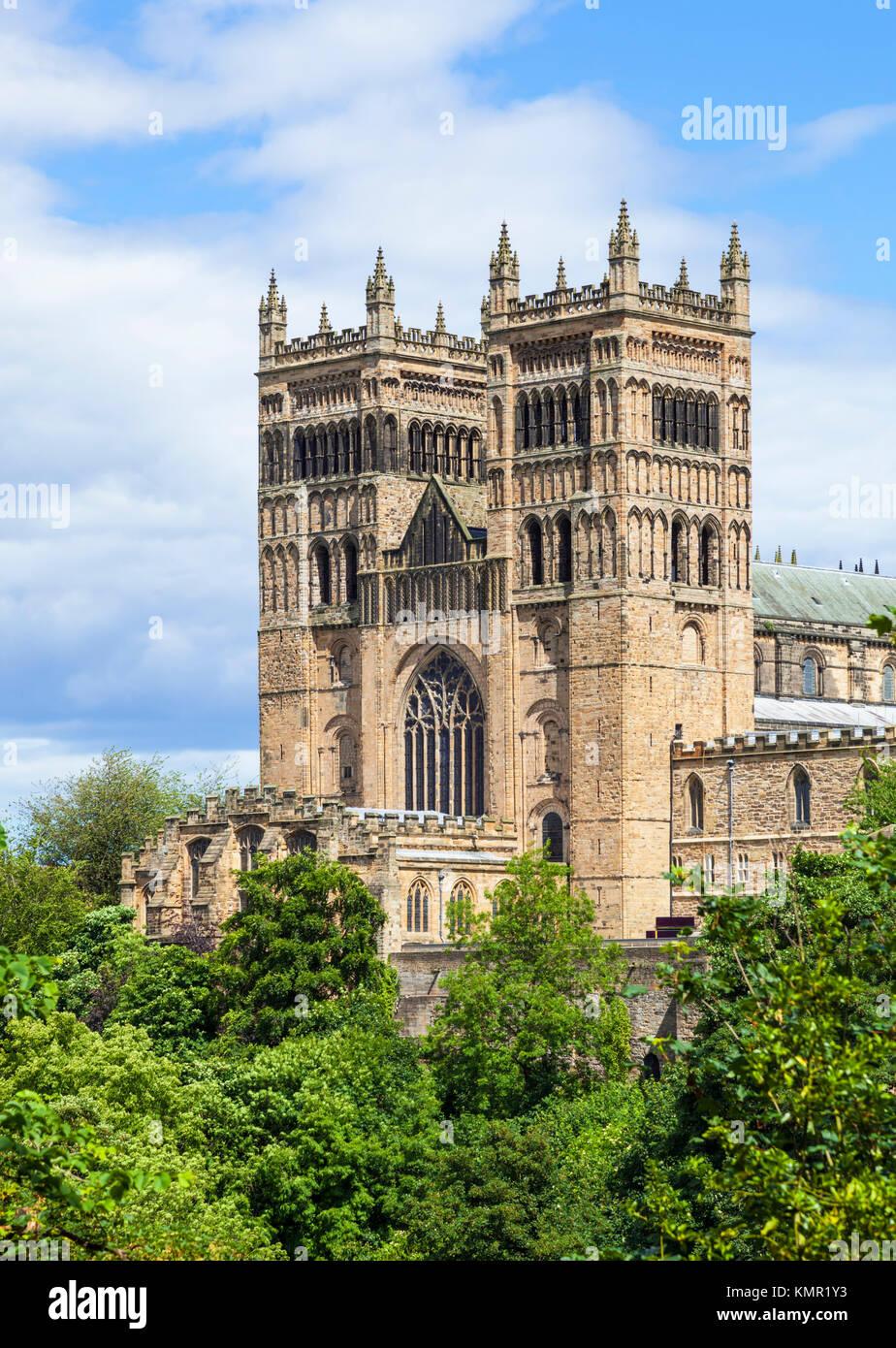 England England Durham Durham Cathedral Fassade Durham County Durham, England Großbritannien gehen eu Europa Stockbild