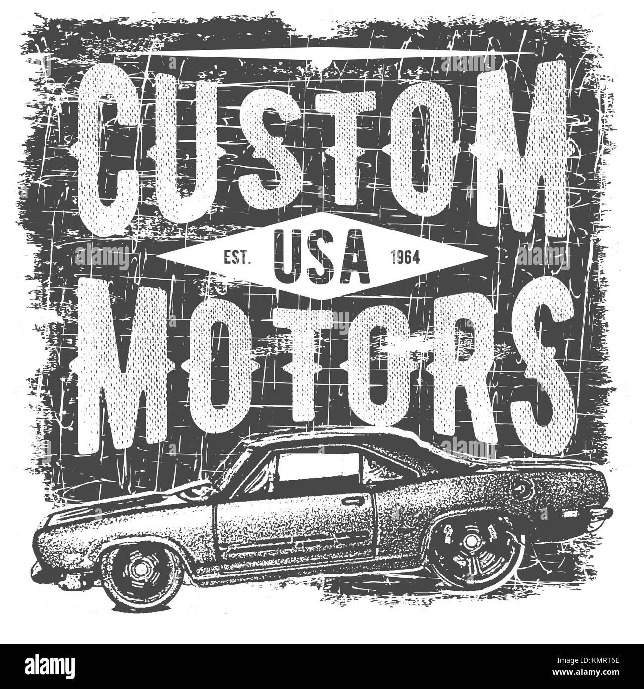 T-shirt Typografie Design, retro Auto vector, Drucken von Grafiken ...