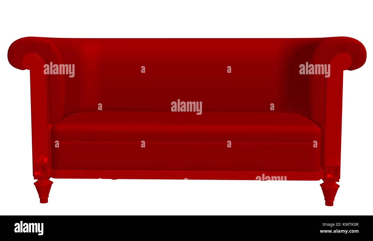 Rote Couch Stockfoto Bild 167728199 Alamy