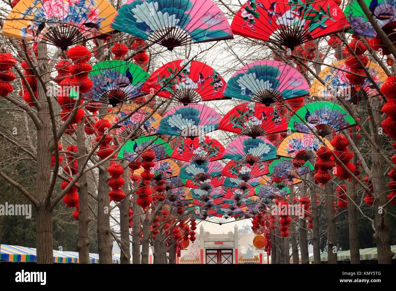 Papier Ventilatoren Glück Rote Laternen chinesischen Neue Jahr ...