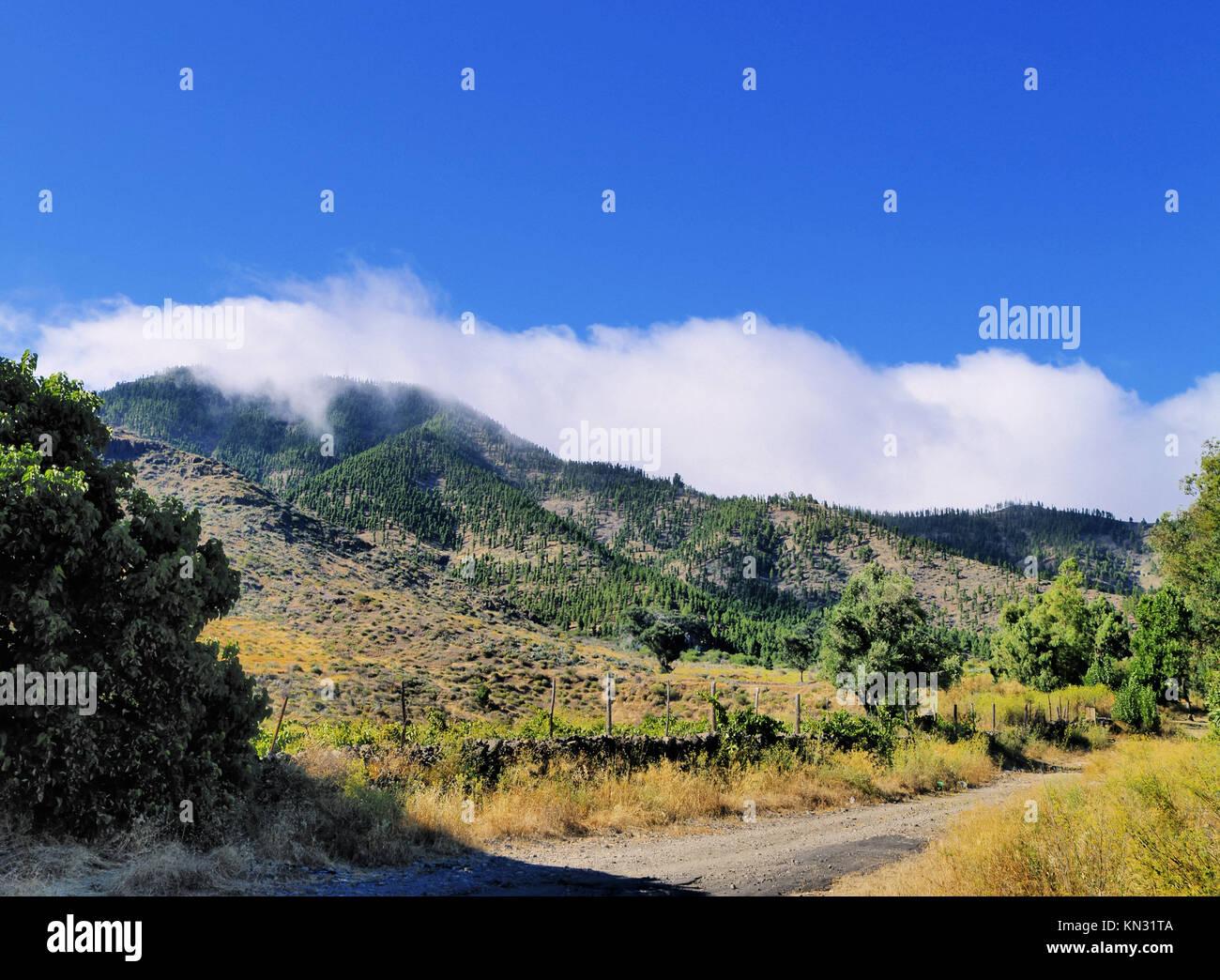 Santiago del Teide - kleine Stadt auf Teneriffa, Kanarische Inseln, Spanien. Stockbild