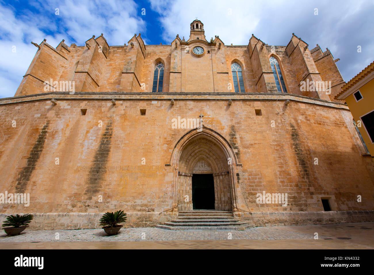 Ciutadella Menorca Kathedrale in Ciutadella, Balearen. Stockbild
