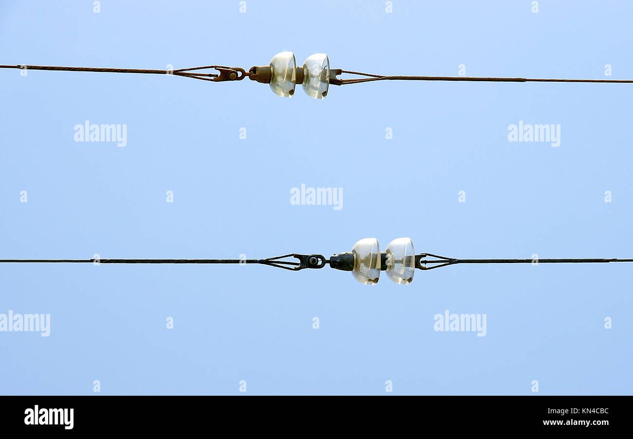 Kabel Isolierglas. Stockbild