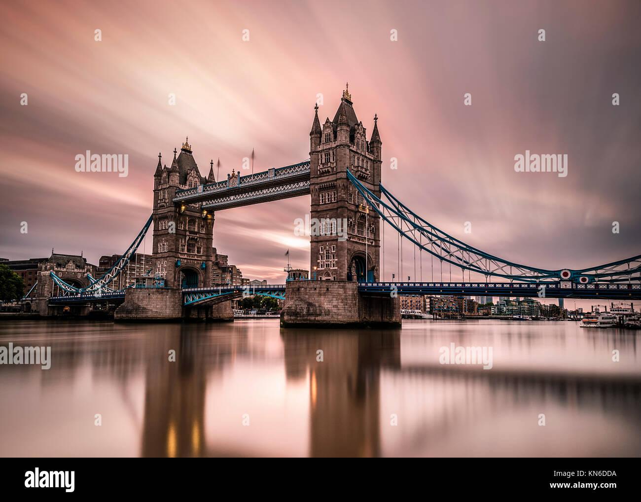 London UK Tower Bridge Stockbild