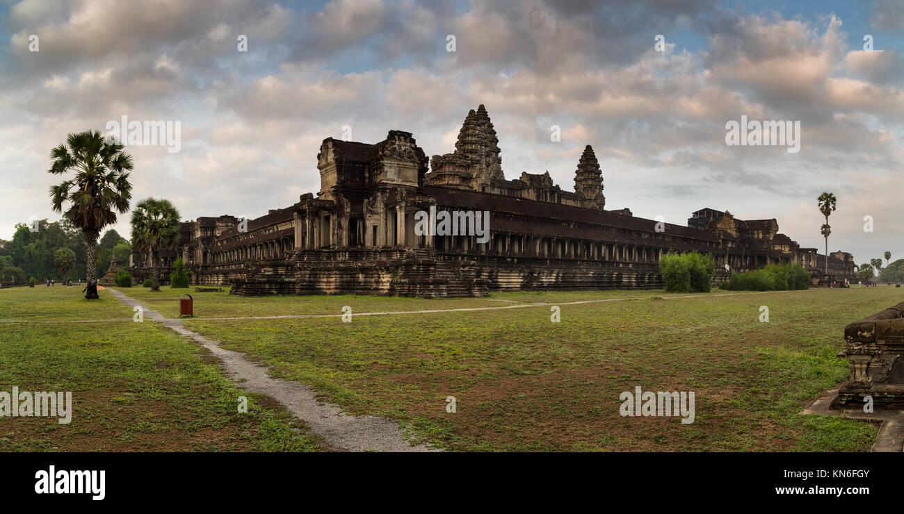 Angkor Wat in Kambodscha ist das größte religiöse Bauwerk der Welt und ein Weltkulturerbe Komplex Stockbild