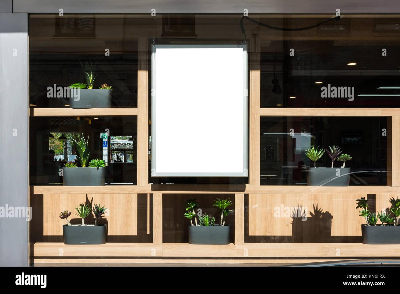 Leere Restaurant Zeichen Moderne zeitgenössische Dekoration Außen ...