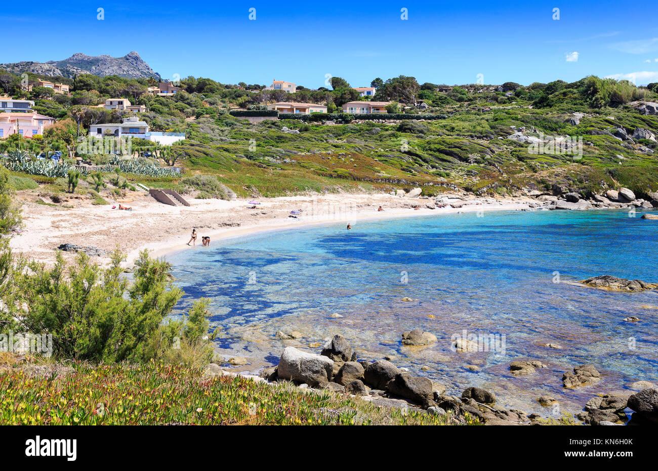 David Strand, Ille Rousse, Korsika Stockbild