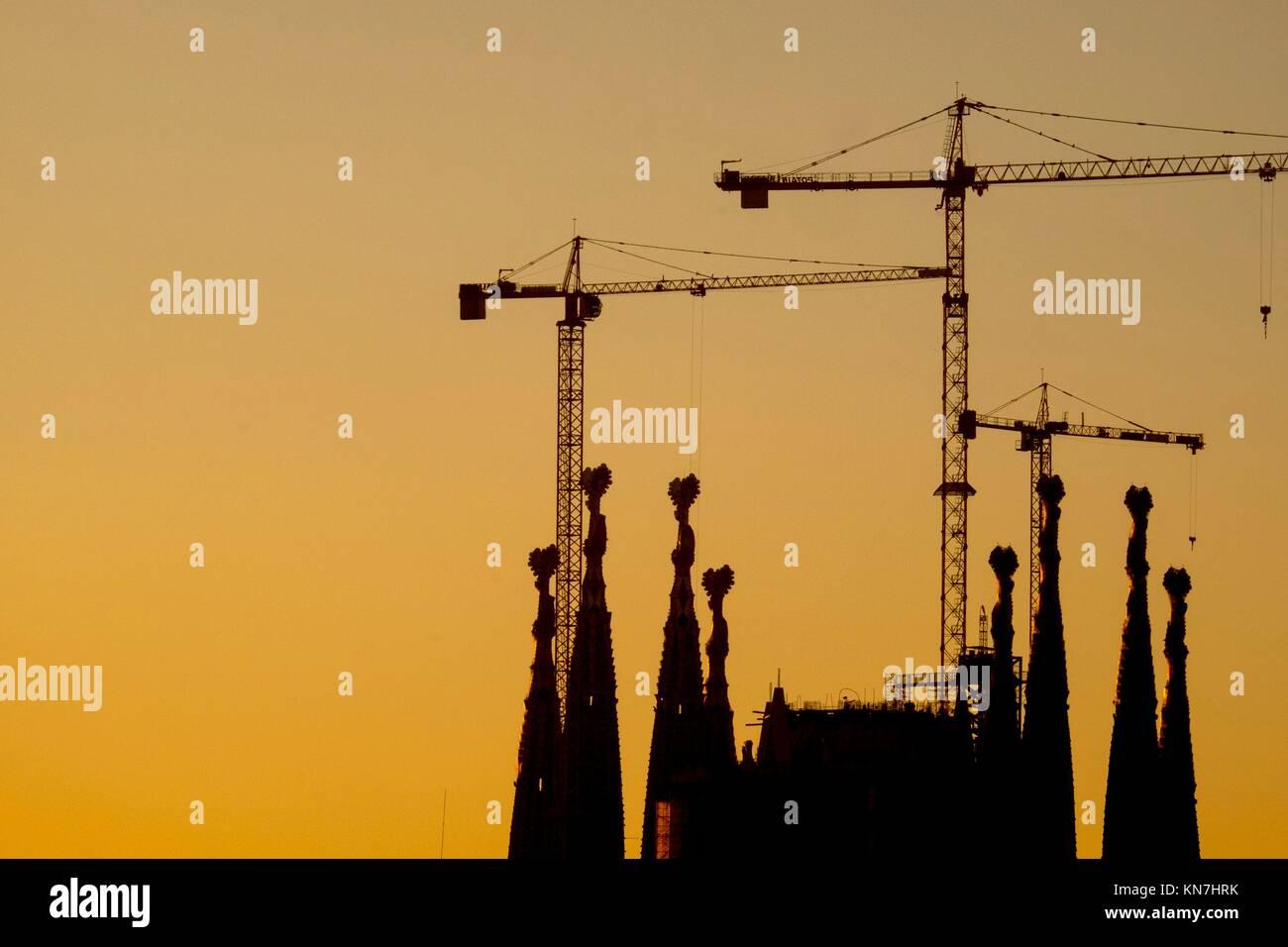 Basilika sagrada familia von antoni gaudi architekt in barcelona katalonien spaiin stockfoto - Architekt barcelona ...