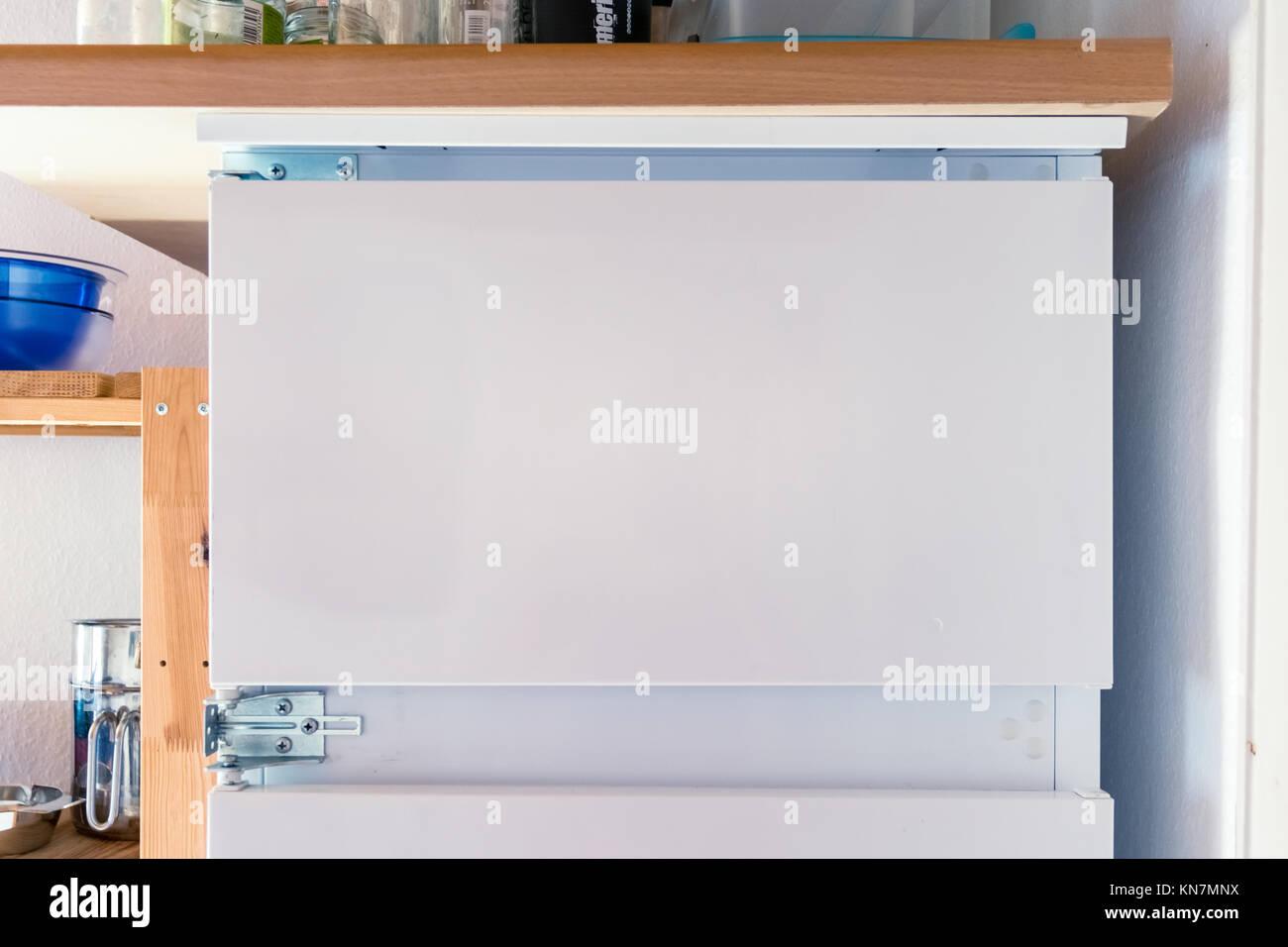 Leeren Kühlschrank Tür Weiß Vorlage isolierte Text kopieren Raum ...