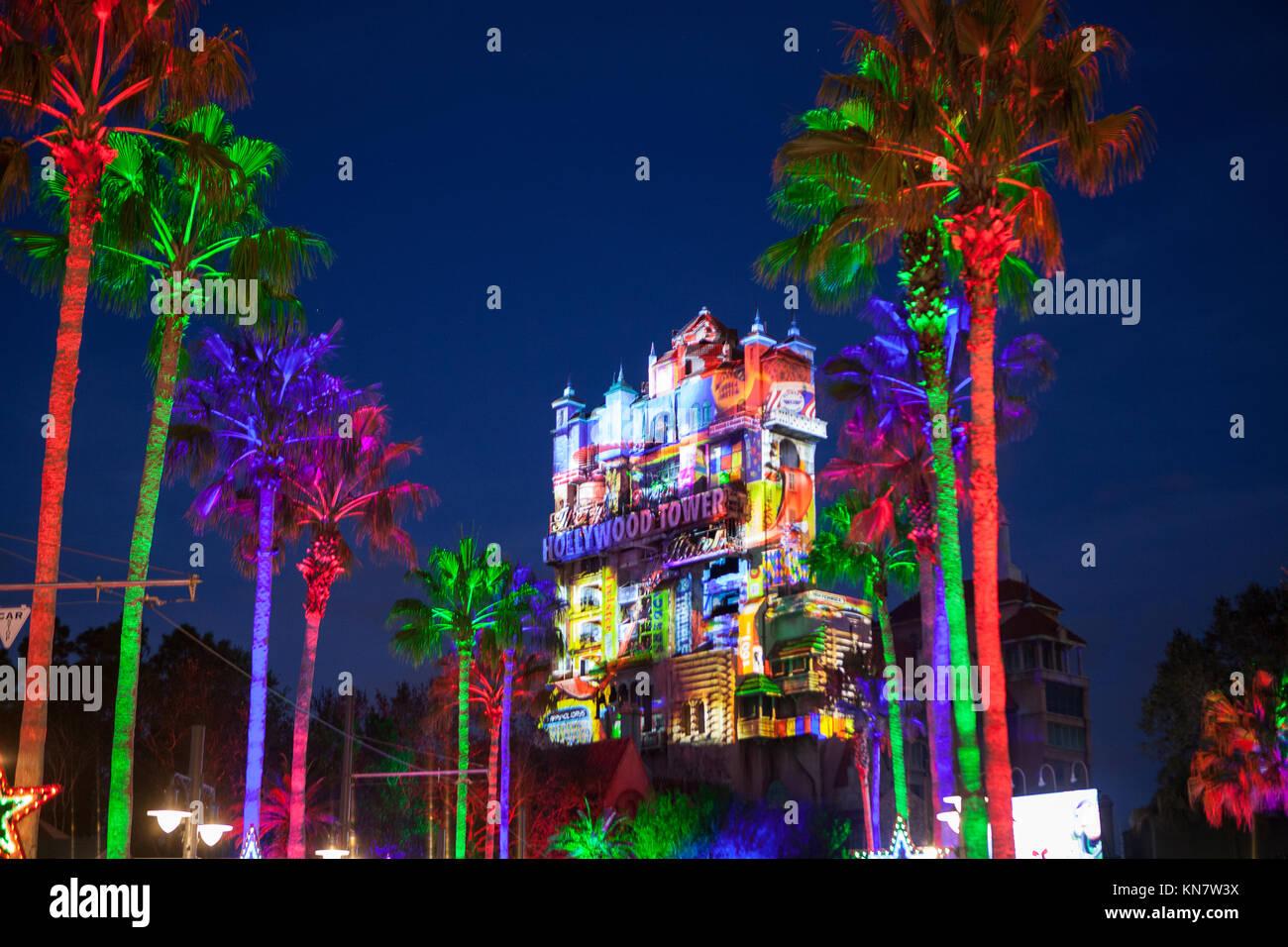 Weihnachtsgrüße Disney.Hollywood Turm Des Terrors Stockfotos Hollywood Turm Des Terrors