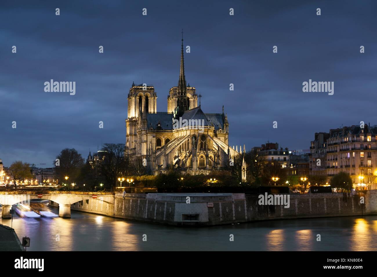 Kathedrale Notre Dame, Paris, Ile de France, Frankreich. Stockbild