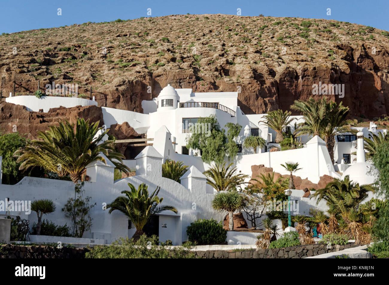 Lagomar Haus von Nazaret, Casa Sharif Omar, Lanzarote Stockbild