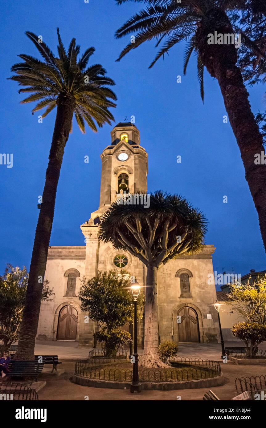 Iglesia de la Pena de Francia Kirche Puerto de la Cruz Stadt Insel Teneriffa Stockbild