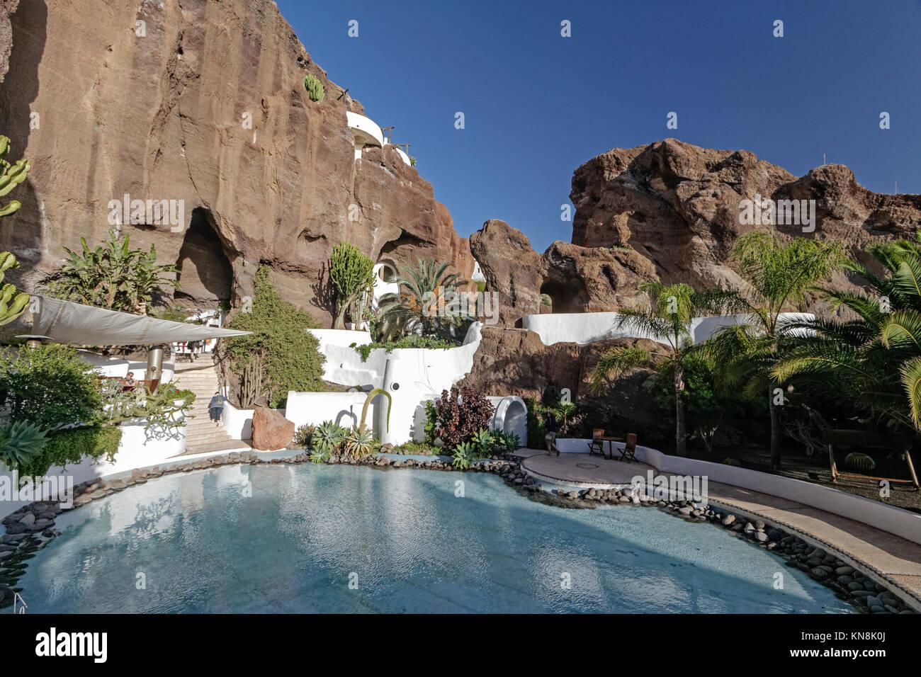 Lagomar Haus von Nazaret, Casa Sharif Omar, Haus Garten Pool, Lanzarote Stockbild